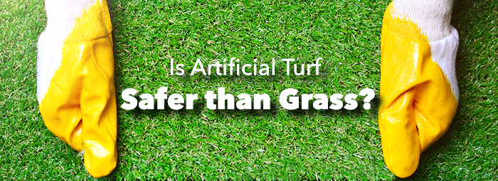 You may be surprised to learn that artificial turf has many safety advantages over grass